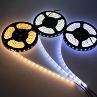 슈퍼 밝은 5m 5630 5050 3528 SMD 60led m LED 스트립 빛 방수 Flexiable 300LED 쿨 퓨어 따뜻한 화이트 레드 블루 그린 12V