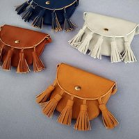 Everweekend Girls Ins Tassels Pu Leather Mini Purse Cute She...