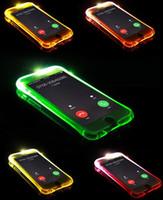 TPU + PC LED Flash Light Up Case for iPhone 7 5 5SE 6 6S Plus Samsung S8 S8 Plus S7 S6 Edge تذكير مكالمة واردة غطاء واضح شفاف بشرة