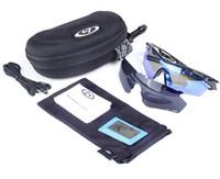 Nueva marca de diseños originales gafas de sol polarizadas para hombre Ciclismo Running Sport Gafas de sol