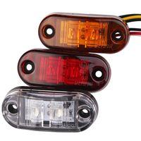 24 V 12V Luci del marker laterale a LED per camion rimorchio Caravan Laterale Autolampada Marker Lampada luminosa Amber Rosso Bianco 9-36V