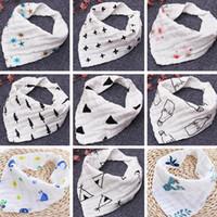 INS 12styles 4 Lagen Baby Lätzchen 100% Baumwolle Lunch Lätzchen Handtuch Speichel Baby Kinder Kleinkinder Milchdruck Brief Gaze gewaschenes Wasser Badetuch