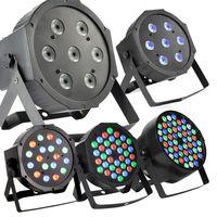 RGBW 54 * 3W LED Par Light Stage DMX 512 Led Stage light 8 Channels Flat Led Par Can Stage Lighting Disco Projector