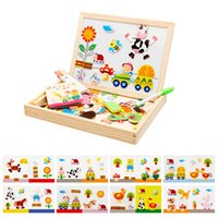 HOT Animal Drawing Writing Board Magnetic Puzzle Double Ease...