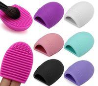 Yeni Fırça Yumurta Temizleme makyaj Yıkama Brushegg Silikon Eldiven Scrubber Kozmetik Vakfı Pudra Temiz Araçları Fırça Temizleyici