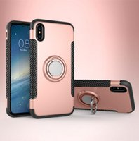 for iPhone X 8 Newest Hybrid Armor Case Shockproof with Magn...