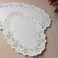 oval 19*26cm paper doilies doyleys placemat craft for weddin...