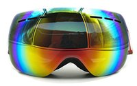 Spherical Ski Snowboard Goggles Double Layer Lens Ski Glasse...