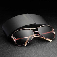 Fashion Luxury Sun Glasses For Women With Metal Frame High Q...