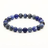 Оптовая дешевые 10 шт. / лот Mix цвета 8 мм Aqua Terra яшма, Бронзит, синий Вены, Рутилизованный камень бусины энергии браслеты
