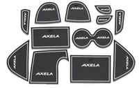 MAZDA 3 AXELA 2013 2014 게이트 슬롯 패드 고무 카 컵 매트 / 패드 미끄럼 방지 매트 자동차 액세서리 12pcs / set 자동차 스타일링을위한 고품질