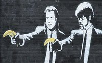 Pulp Fiction Banana by Banksy Graffiti Art Giclee Canvas HD ...