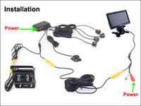Система PZ608 помощи Стоянкы автомобилей камеры Rearview тележки автомобиля Толковейшая водоустойчивое IP67 7 дюймов 16:9 цифровая камера Pixal 648*488 панели столбом
