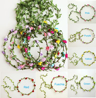 artificial garland small flowers garlands bridal hair access...