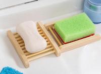목욕 샤워 화장실의 갯수 천연 대나무 나무 비누 접시 나무 비누 트레이 홀더 저장 비누 랙 플레이트 상자 컨테이너