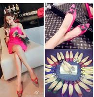 2016 zapatos de los planos de las mujeres de la marca del dedo del pie acentuado de las mujeres más tamaño vestido de fiesta zapatos de tacón bajo zapatos de boda de gran tamaño