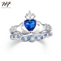 Wholesale- Exquisite Love Design Crown Hand Heart Clah- Duh C...