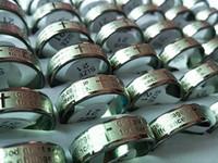 Brand New 50 PCs Inglês a oração da serenidade de prata dos homens de aço inoxidável 7 mm jóias gravura anéis atacado misturado lotes