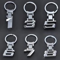 Carrise de voiture Nouveau en gros alliage de zinc en métal Logo Chaveiro Keychain Keychain Clé Toux-porte-clés pour 1 3 5 6 7 x M3 M5 Porte-clés
