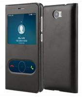 """Lujosa tapa con ventana de visualización Cubierta de la caja para 5.0 """"Huawei Y5 II 2 / Y6 II Compact"""