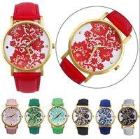Montre en dentelle à bracelet en cuir pour femmes Montre-bracelet 8 couleurs OOA2529