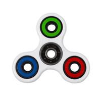 Novo Triângulo Tri Mão Spinner Dedo Fidget Spinner EDC Mão Spinner Acrílico ABS Plastic Metal Gyro Brinquedos de varejo vendas