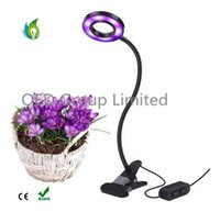 10W Dimmable LED Plant Grow Light with Spring Clamp Office I...