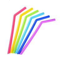 многоразовые силиконовые соломинки для питья из нержавеющей стали чашки пищевой 25 см силиконовые прямые изогнутые соломинки домашний бар Кубок бокалы соломинки