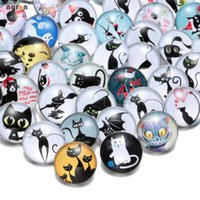 KZHM010 Wholesale 50pcs lot Mixed Colors Cat Series 18mm Gla...