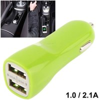 Mini Universal 5 V-2.1A / 1A Dual USB Port Reise Auto Ladegerät adapter Für Handy Tablet PC 300 teile / los
