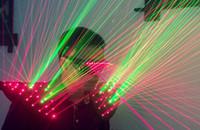 Rote, grüne, zweifarbige Laser-Tank-Top-Laser-Leistungskleidung Leistungskleidung DJ-Bar-Nachtlaser-Bühnenkostüme
