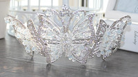 Coréenne grand cristal coréen mariée couronne de perles à la main coiffes perlées cadeau de mariage robe de mariée accessoires