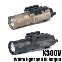 Nowa latarka SF X300V-IR Latarka Taktyczna Led Light Light White Light i IR Wyjście Fit 20mm Picatinny Rail Black / Dark Earth