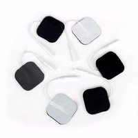 Nouveau Massager Patch 20pcs / lot (10 paires) 4 * 4cm Électrodes Pads Type Pin Physiothérapie Massager Électrique Machine Numérique