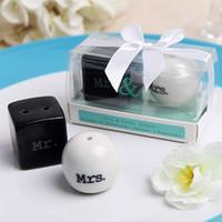 MRMRS Assaisonnement Pour Mariage Sel et Poivre Shaker Céramique Spice Jars Faveur De Mariage Party Gift Supplies Nouveau