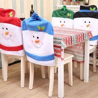 Christmas Chair Christmas Snowman Xmas Party Hotel Restaurant Festive Set Home Dinner Table Decorazioni per sedie Novità