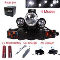 prix 8000 lumens T6 + 2R5 Boruit Head Light Phare Extérieure Light Head Lampe HeadLight Rechargeable par 2x 18650 Batterie Pêche Camping