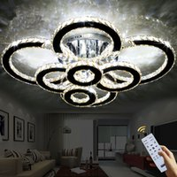 K9 Chandeliers Living Room Crystal Ceiling Light Round LED C...