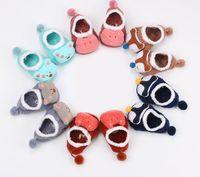 Baby Jungen Mädchen Winter warme Söckchen Kinder Kleinkind Cartoon 3D Cartoon Rutschfeste verdicken Boden Socken 0-5Y Party Weihnachtsgeschenk