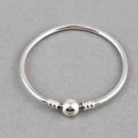 Wyprzedaż luksus 100% 925 Sterling Silver Original Bransoletka Bangle dla Kobiet Autentyczna Biżuteria Prezent Pulseira Prezent