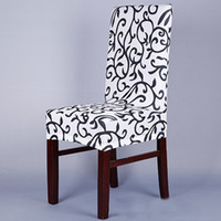 Stretch Chair Cover Printed Dining Chair Cover Spandex Slipc...
