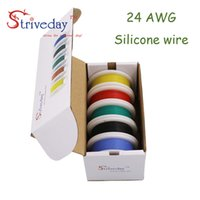 30m 24AWG Flexible Silicone Wire Cable 5 color Mix box 1 box...