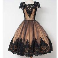 Custmo ha fatto a buon mercato 2021 Breve abiti da ritrovamento Abiti Abiti Desidos de Coctel Vestido De Festa Curto Black Color Prom Dresses
