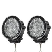 7 inç 90 W LED İş Işık Traktör Kamyon 12 v 24 v IP67 SPOT Sel Offroad LED Sürücü işık LED Sis Işık seckill 55 w 75 w