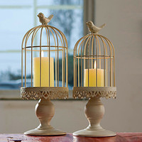 Art Decoration Birdcage Candle Holder European Style Mediter...