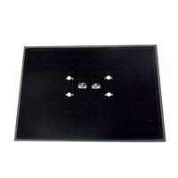 Envío Gratis Ventas Calientes 100 Ranuras Caja de Exhibición de Almacenamiento de Joyas de Anillo de Terciopelo Negro Caja Organizador Bandeja