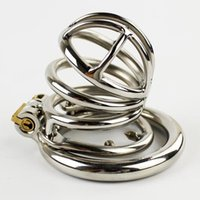 NEW Stainless Steel Male Chastity Device Penis Lock Anti- Ere...