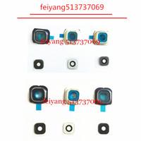 10pcs gerçek cam ile Samsung Galaxy s6 G920 / S6 Kenar g925 Geri Arka Kamera Lens Ve Lens Kapak Orijinal yeni