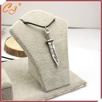 Wholesale- Supernatural knife knife leather cord necklace Spe...