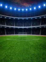 Terrain de football Arrière-plans pour Photo Studio Flash Ampoule Vert Herbe Plancher Enfants Enfants Photographie Décors Fête Sport Jeu Props